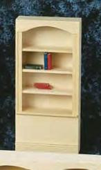 Bookcase One Section and Four Shelf