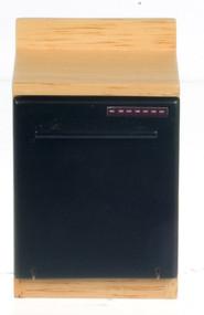 Black Dishwasher Cabinet - Oak