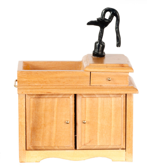 Dollhouse City - Dollhouse Miniatures Wet Sink - Oak