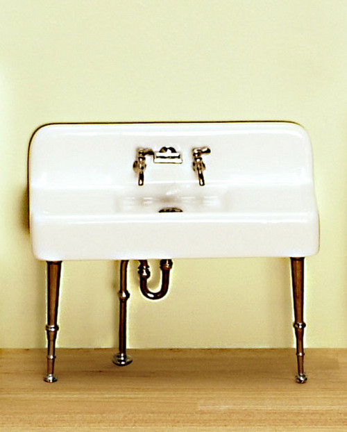 Kitchen Sink- Porcelain and White