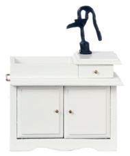 Wet Sink with Pump- White and Black
