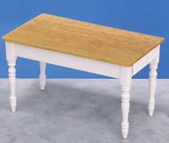 Kitchen Table White and Oak