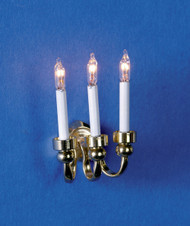 Dollhouse City - Dollhouse Miniatures 3-Candle Grand Wall Sconce
