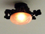 Dollhouse City - Dollhouse Miniatures Oranate Iron Ceiling Lamp