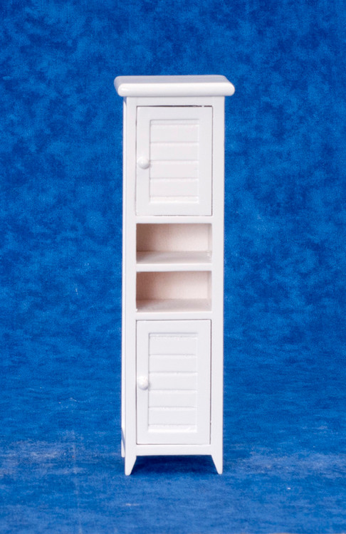 Dollhouse City - Dollhouse Miniatures Bath Cabinet - White