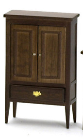 Dollhouse City - Dollhouse Miniatures Armoire - Walnut