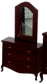 Low Dresser with Mirror - Mahogany