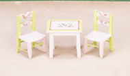 Dollhouse City - Dollhouse Miniatures Child's Table and Chair Set