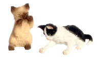 Dollhouse City - Dollhouse Miniatures Playing Kittens - Siamese Brown