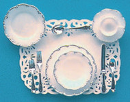 One Place Settings - Silver Trim