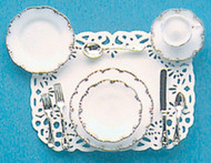One Place Setting - Gold Trim