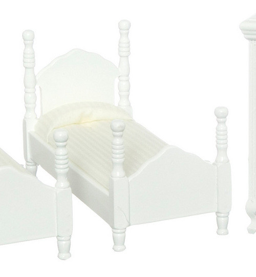 Twin Bed - White
