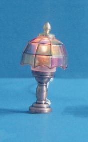 Dollhouse City - Dollhouse Miniatures Colored Tiffany Lamp