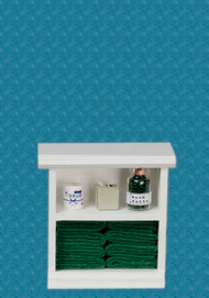 Bath Cabinet - Small and Dark Green