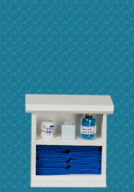 Bath Cabinet - Small and Dark Blue