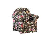 Chair with Pillows - Black Floral