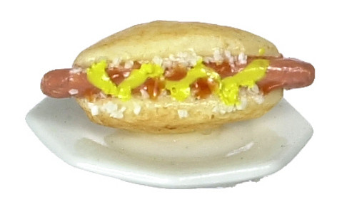 Dollhouse City - Dollhouse Miniatures Hot Dogs Set