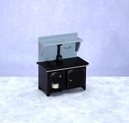 Dollhouse City - Dollhouse Miniatures Wood Stove - Black