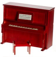 Upright Piano Bench - Mahogany