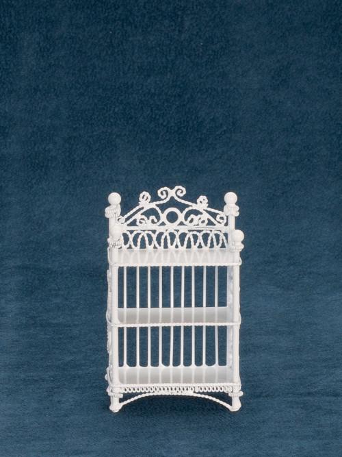 Dollhouse City - Dollhouse Miniatures 3-Tier Book Case - White Wire