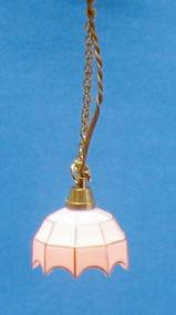 Dollhouse City - Dollhouse Miniatures White Tiffany Hanging Lamp