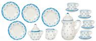 Tea Set - Blue Dots