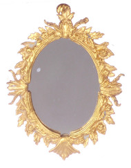 Dollhouse City - Dollhouse Miniatures Antique Mirror - Oval and Antique