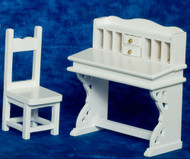 Desk and Chair Set - White