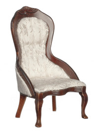 Victorian Ladies Chair - White Brocade