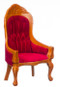 Dollhouse City - Dollhouse Miniatures Victorian Ladies Chair - Red