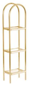 Glass Etagere - Brass