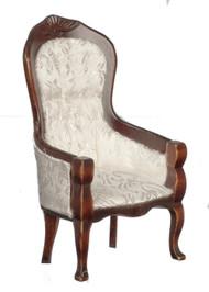 Victorian Gent's Chair - Walnut Brocade
