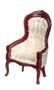Victorian Gent's Chair - White
