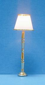 Dollhouse City - Dollhouse Miniatures Gold-Base Floor Lamp