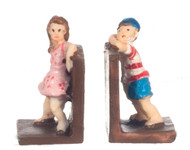 Dollhouse City - Dollhouse Miniatures Bookends Hide and Seek - Colored