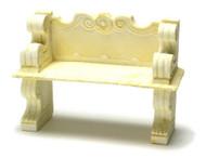 Dollhouse City - Dollhouse Miniatures Victorian Bench Set - Ivory