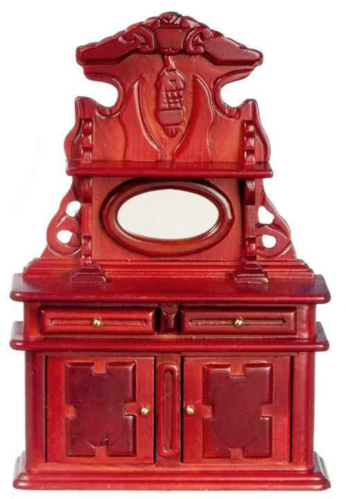 Dollhouse City - Dollhouse Miniatures Victorian Sideboard - Mahogany
