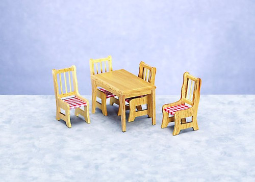 Table and 4 Chairs Set - Oak