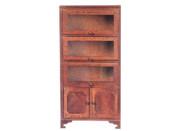 Bookcase Three Glass Doors - Walnut
