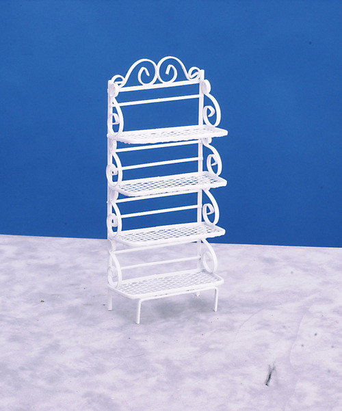 Dollhouse City - Dollhouse Miniatures Baker's Rack - White