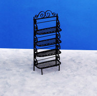 Dollhouse City - Dollhouse Miniatures Baker's Rack - Black