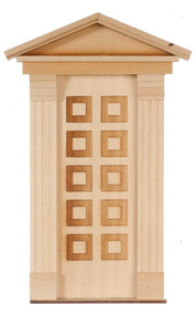 Dollhouse City - Dollhouse Miniatures 10 Raised Panel Federal Door