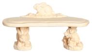 Dollhouse City - Dollhouse Miniatures Rabbit Bench Set - Ivory