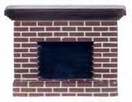 Small Red Brick Fireplace
