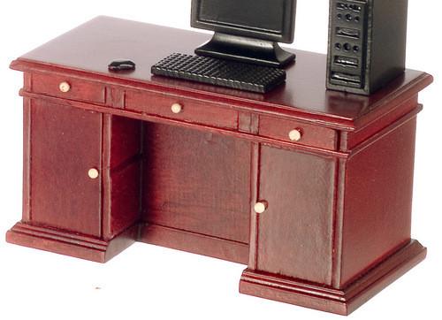 Kneehole Desk - Mahogany