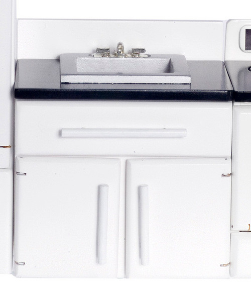 White Sink with Black Top