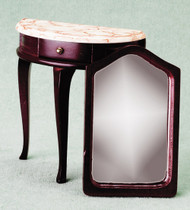 Demi Table with Mirror - Mahogany