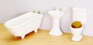 Three pieces Bathroom - White
