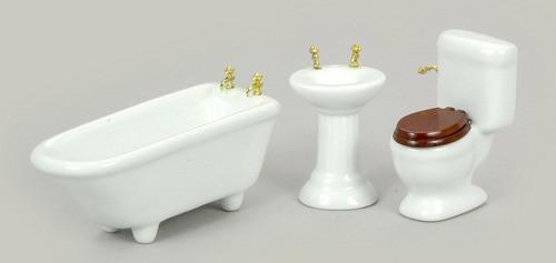 Three pieces Bathroom Set - White