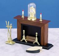 Fireplace Set Seven - Walnut